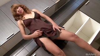 Sensual Asian babe strips on cam tp fuck and pose hot