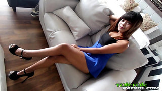 Amazing and versatile Thai slut Penny gives not a BJ but also a good ride