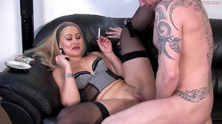 This hot blonde likes to smoke while having sex, because it feels so much better