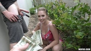 Well this Czech babe is happy to fuck for cash
