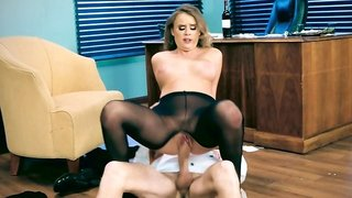 Smoking hot blonde fucked her handsome lawyer