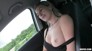Hot Blonde Hitchhiker