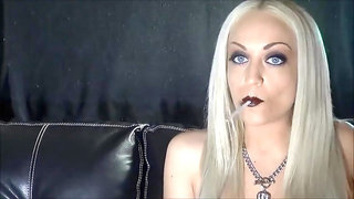 Smoking Blonde with long nails