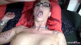 SCOUT69 - Red-Haired Thick Melons Mommy from Germany Very First Time Audition Pummel