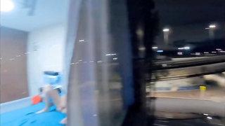 My Stepcousin Caught Masturbating From Her Window (spy cam)