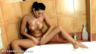 Bound submissive throated