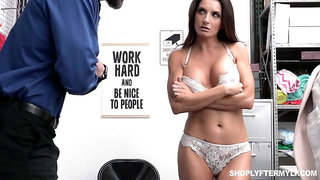 Shoplifting milf Silvia Saige gets punished right on the table