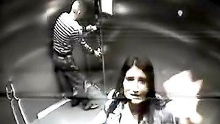 Couple fucks on security cam in elevator