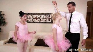 Hot Blowjob And Handjob By Young Ballerina