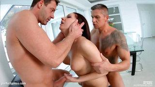 Felicia Kiss enjoys a full load of hot jizz inside her