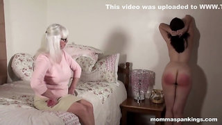 The scent on her hand proves she defiled herself so she gets a spanking