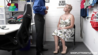 Super sexy chubby woman gets punished for shoplifting