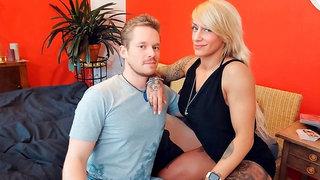 Sex-loving inked blonde Fit XXX Sandy got her crack fucked in POV
