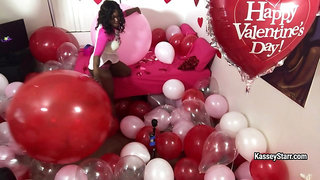 Kasseystarr in Valentines Day Room Of Balloons - FanCentro
