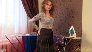 Aunt Judy's - Mature Mandy Wants You to Watch Her Strip