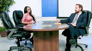 Intense hardcore at the office with the new female manager