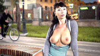 Naughty Russian MILF Exhibitionist 02