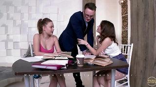 Shakila Asti & Sofy Torn - Well-hung tutor serves two student