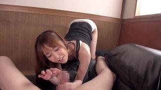 Yu Shinoda grinding and rubbing