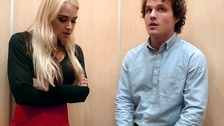 Stuck in an elevator and fucking with Sarah Vandella