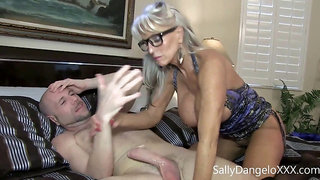Teenie man screws his enormous white cock in his cougar stepmommy Sally D'angelo flynt dominic