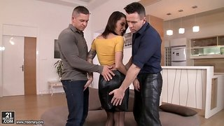 Nikita just enjoys being banged by two erected cocks at the same time!
