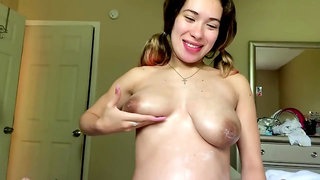 Rubber cum in my big belly... pregnant sex by diosaera