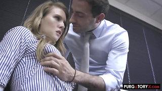 nasty babe Ashley Lane office sex clip