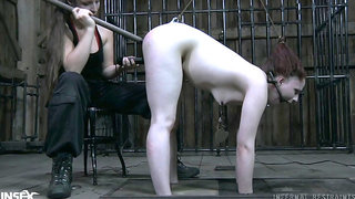 Poor submissive bitch with big ass Claire Adams deserves hard masturbation