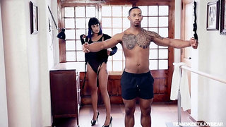 Submissive black lover fulfills every whim of white mistress Kali Sudhra