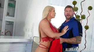 Sex adventure of lustful housewife Alura Jenson