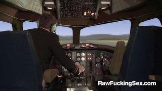 Raw Fucking Sex - Busty Stewardess Madelyn Marie Fucked Roug