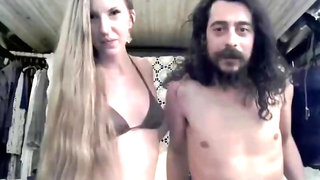 Fantastic Long Haired Hairjob and Hair-Blowjob, Long Hair, Hair