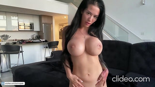 Busty tight MILF amazing solo video
