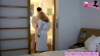 Blonde teen girl try anal in hotel