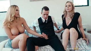 Julia Ann, Olivia Austin - My Stepmom's Social Club 4k