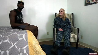 She loves getting fucked by black cocks
