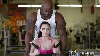 Great gym sex for Tiffany Star sees her getting good black dick