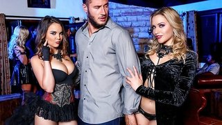 Dillion Harper, Mia Malkova, Danny Mountain in Hot Chicks Big Fangs 2,  Scene 2 - DigitalPlayground