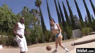 Gianna Michaels Interracial Basketball