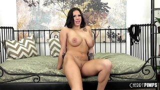 Getting hard and sweaty with Lylith Lavey taking his big dick