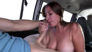 Nymphomaniac girl is having hardcore sex in the van