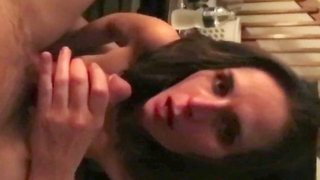 beautiful girl takes care of her small dick boyfriend