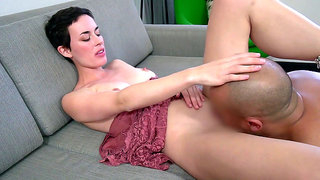 Olive Glass shows her stepson what to do in order for him to please any woman
