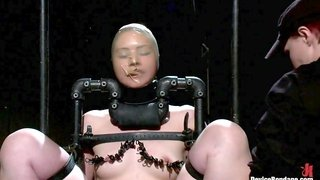 Sarah Shevon in Sexy Sarah gets Fucked Hard in Brutal Bondage with Nerve Racking Breath Play - DeviceBondage