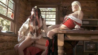 Gorgeous Ash Hollywood and India Summer tag team horny farmer
