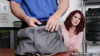 Banging with a hot shoplifter MILF Andi James - Big tits