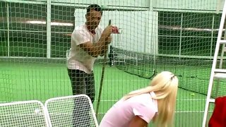 Tennis instructor fucks junior pussy