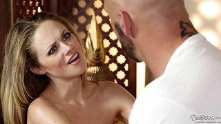 Katie Kox gets her portion of pleasures in spa