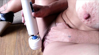 Big Pussy Saggy Tits FIT Mature Has Clit Hopping Orgasm